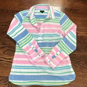 Talbots cute striped thinweight blouse